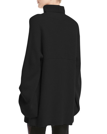 Cutout Turtleneck Pullover Sweater