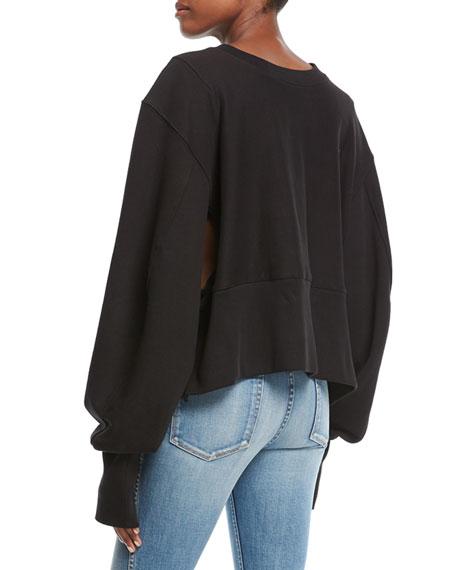 The Editor Crewneck Sweatshirt with Zippers