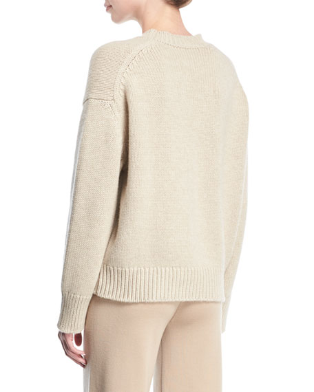 Oversized Crewneck Cashmere Sweater