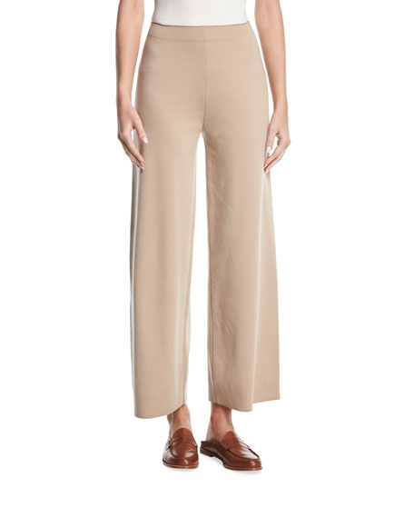 Wide-Leg Merino Wool Pants