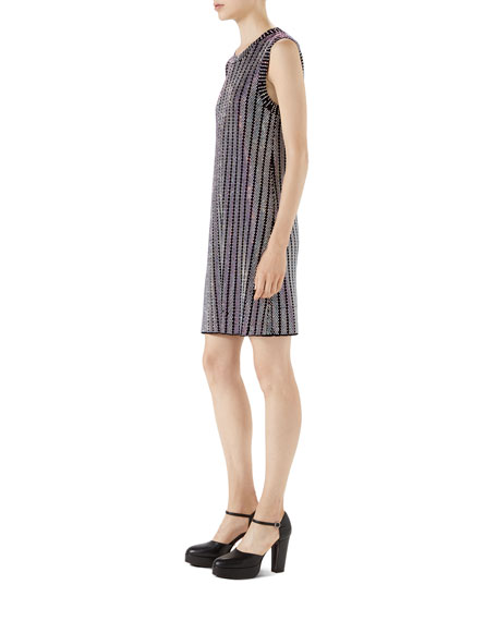 Crystal Ribbed Sleeveless Dress
