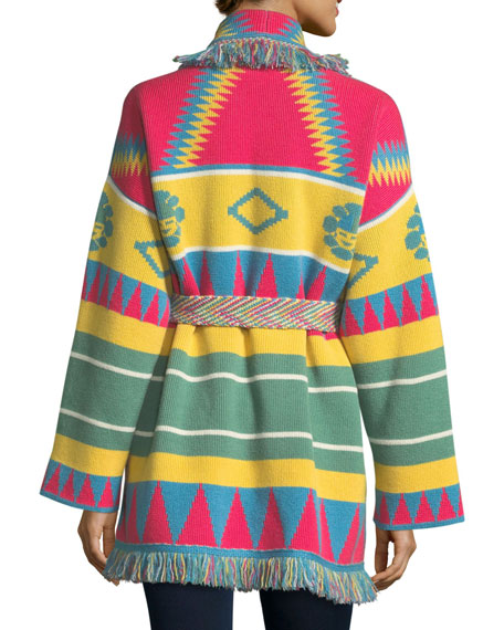 Icon Southwestern Cashmere Wrap Sweater