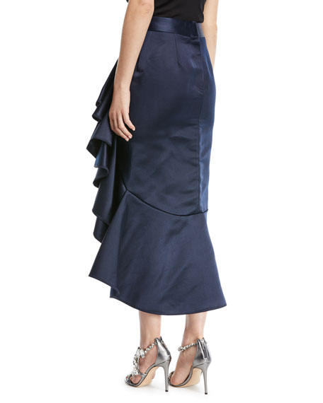 Mary Queen of Scots Faille Midi Skirt