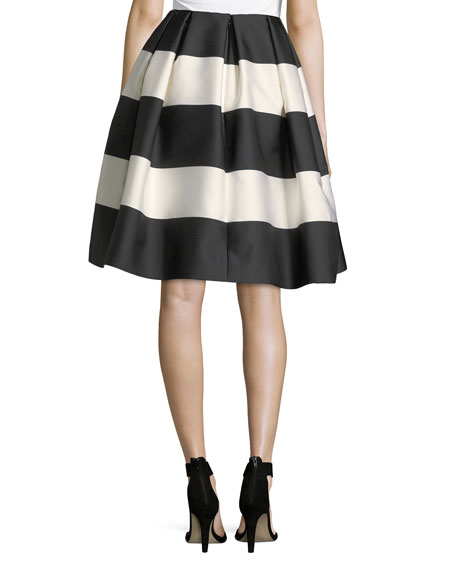 Striped Taffeta Party Skirt