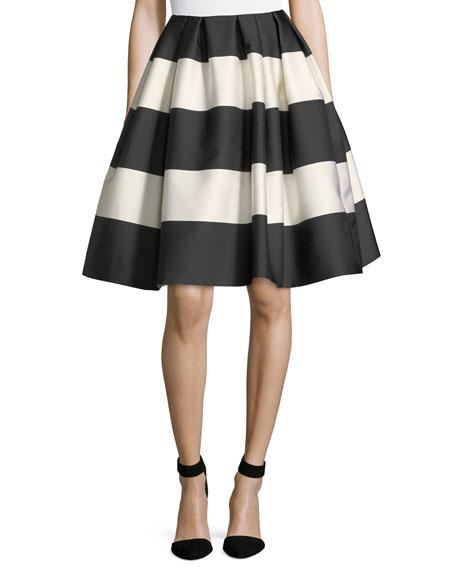 Striped Taffeta Party Skirt