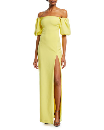 Reina Strapless High-Slit Fitted Cocktail Dress