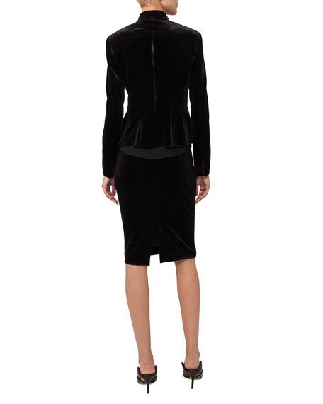 Nova Velvet Origami-Pleated Jacket