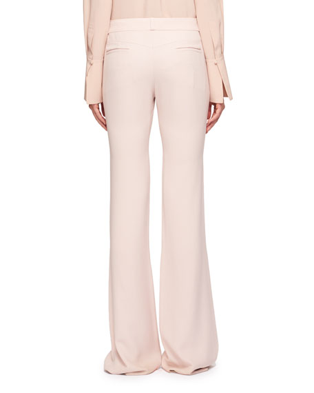 High-Waist Floor-Length Pants