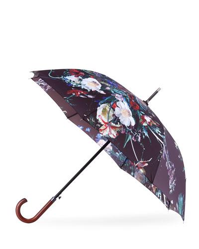 Floral-Print Umbrella
