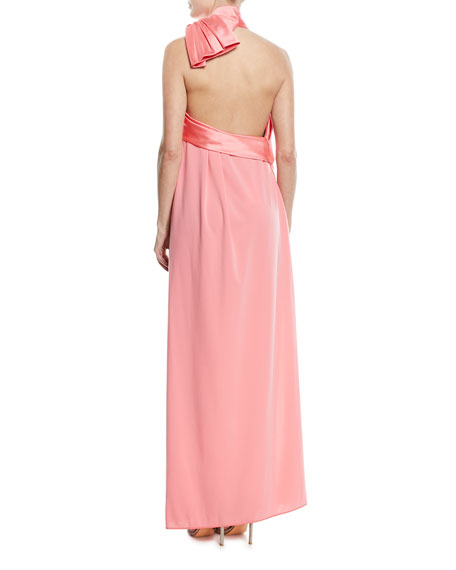 Jersey Halter Gown w/Bow