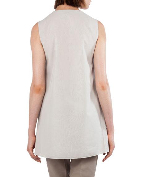 V-Neck Sleeveless Cotton Voile Top