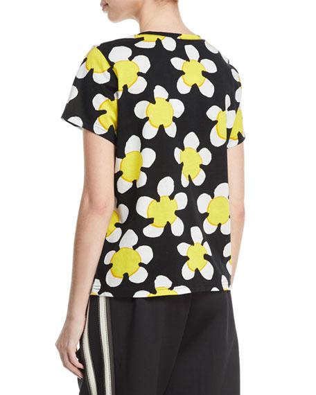 Daisy-Print Jersey T-Shirt