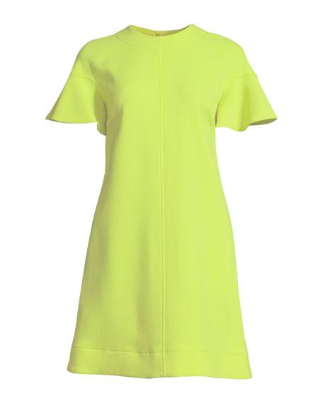 Flutter-Sleeve Shift Dress