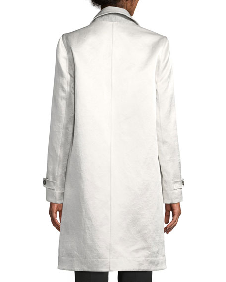 Reversible Shiny Linen Coat