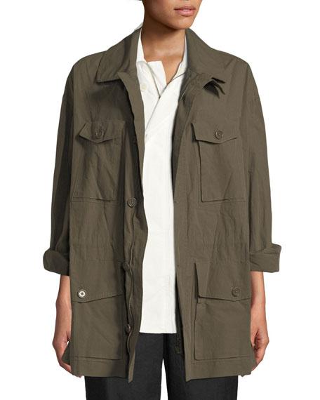 Button-Down Poplin Safari Jacket