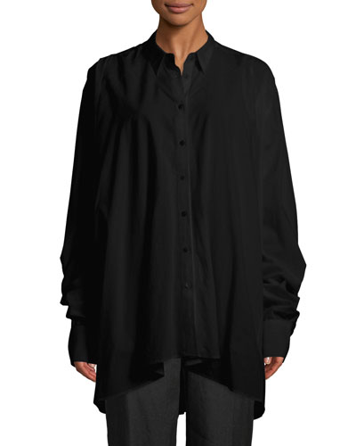 Long-Sleeve Lantern Shirt