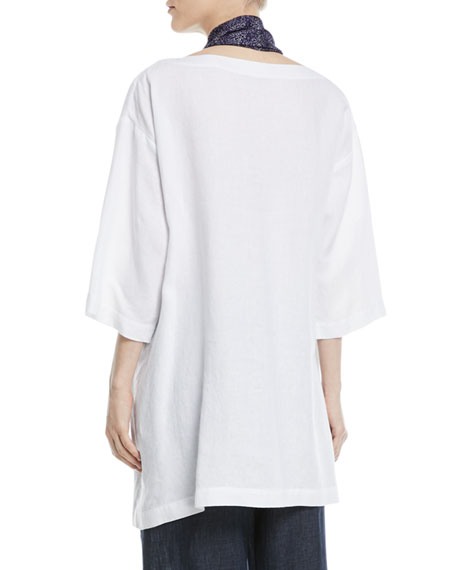 3/4-Sleeve Linen Tunic