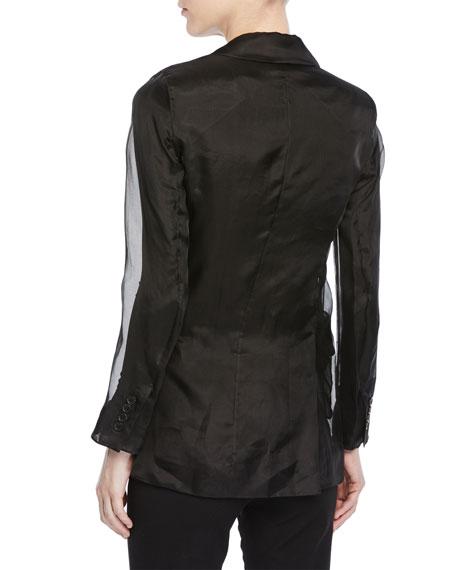 Lucerna Single-Breasted Silk Organza Jacket
