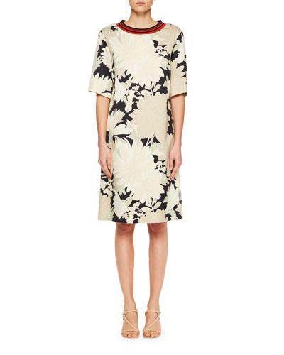 Dosky Floral Short-Sleeve Dress