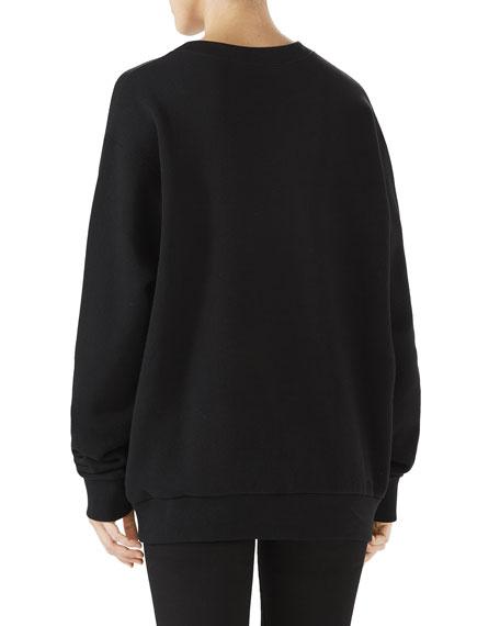 Long-Sleeve Oversized Bugs Bunny Embroidered Sweatshirt