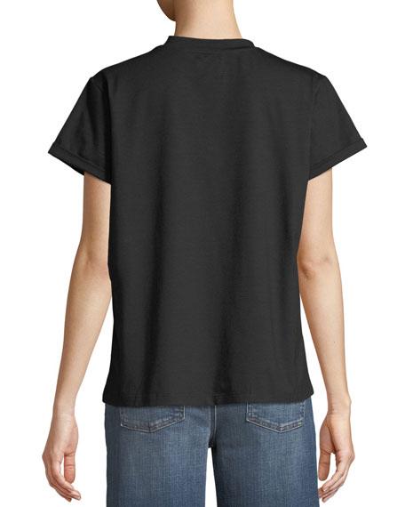 Jeweled Face T-Shirt, Black