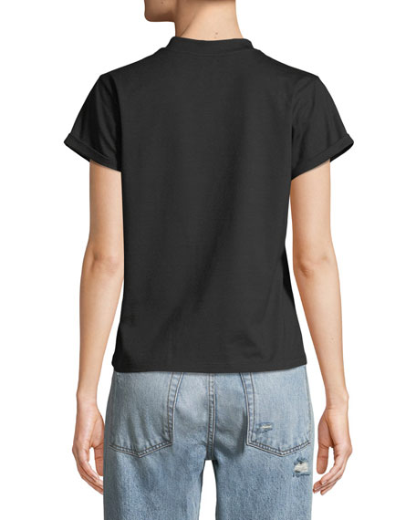Crown Jeweled Face T-Shirt, Black