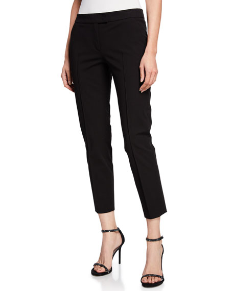 Frankie Straight-Leg Cotton-Stretch Cropped Pants