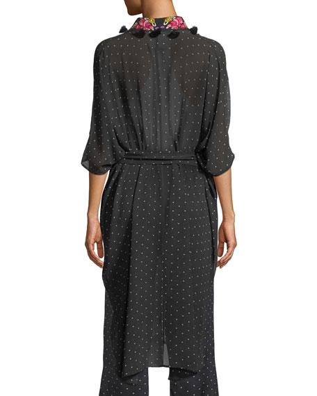 Amira Aztec-Dot Kaftan-Style Jacket