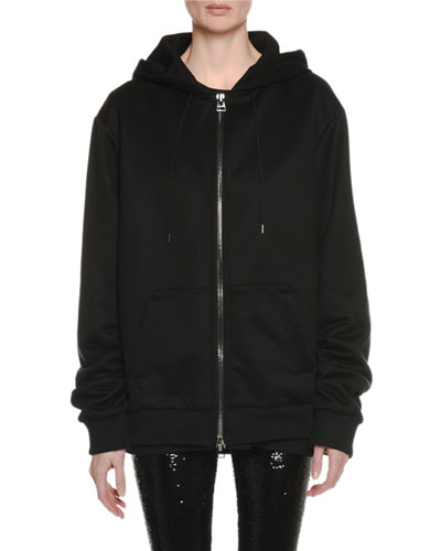 Zip-Front Hooded Sweatshirt