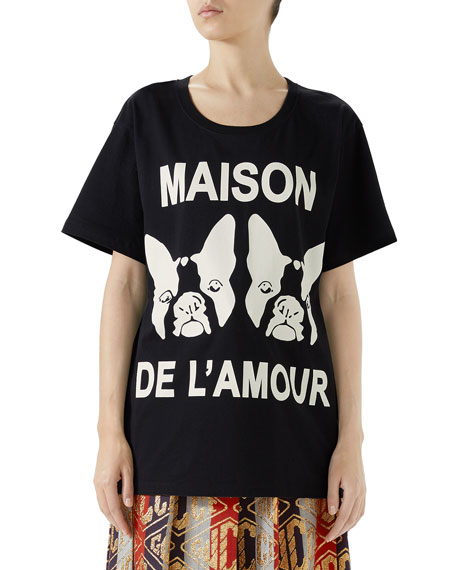 Maison De L'Amour Cotton Jersey T-Shirt in Black