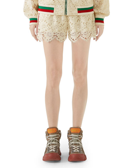 Flower Lace Shorts in White