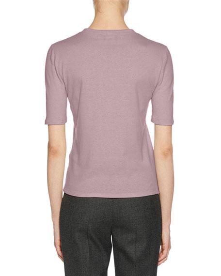 Short-Sleeve Crewneck Cashmere T-Shirt