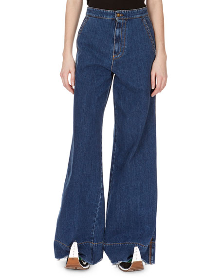 High-Waist Oversized Flare-Leg Jeans