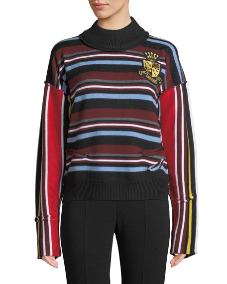 Multi-Stripe Merino Wool Sweater