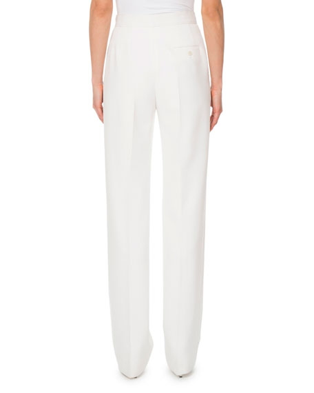 High-Waist Wool Trousers