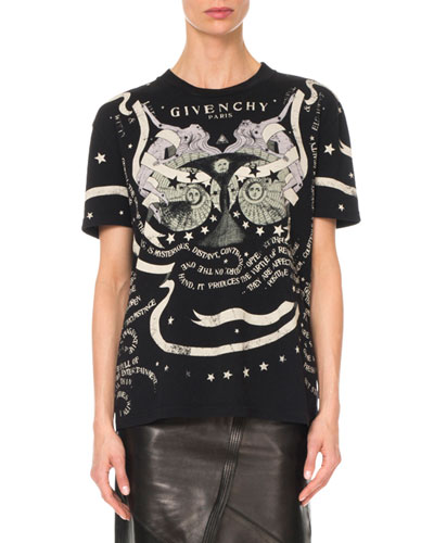 Gemini-Horoscope Crewneck Short-Sleeve Cotton Tee