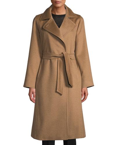 Manuela Belted Camel Hair Coat  Camel