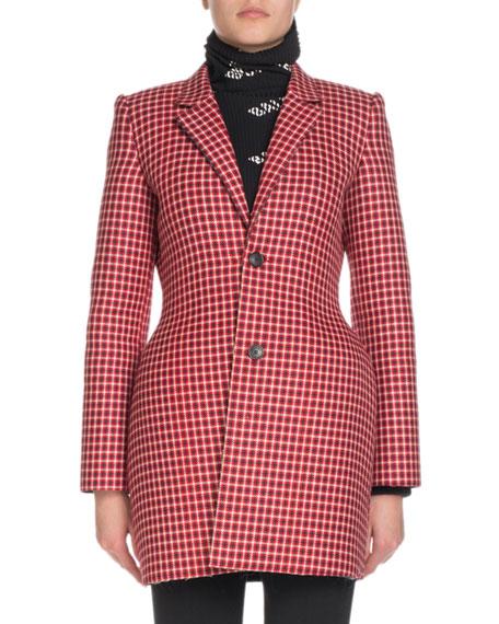 Hourglass Check Blazer Jacket