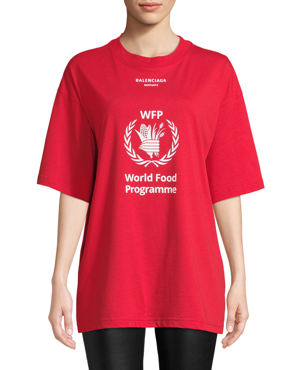 Balenciaga World Food Programme Graphic Tee Bergdorf Goodman