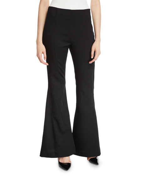 Wool-Twill Flare-Leg Pants