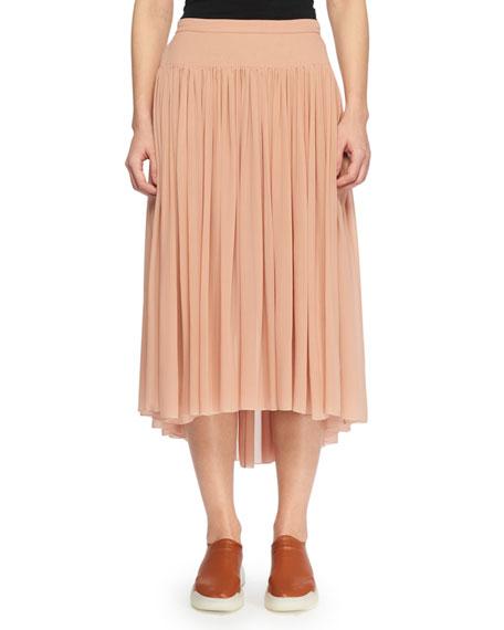 7f447b5925747 Stella McCartney Pleated Silk Midi Skirt