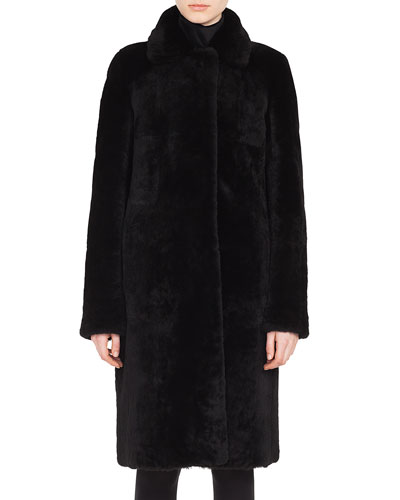 Shearling & Suede Reversible Coat