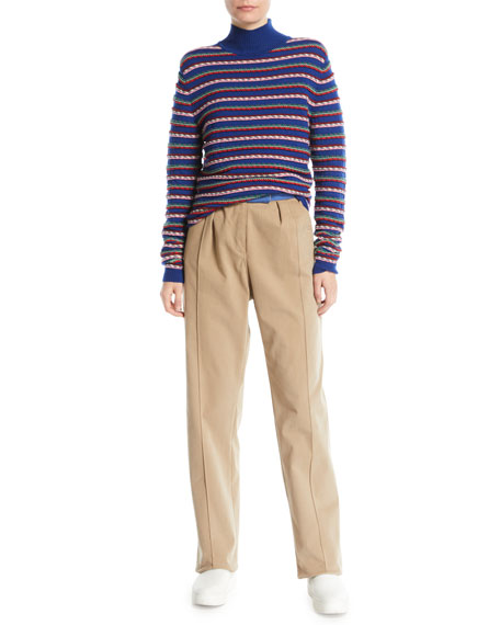 Rolled-Up Straight-Leg Pants