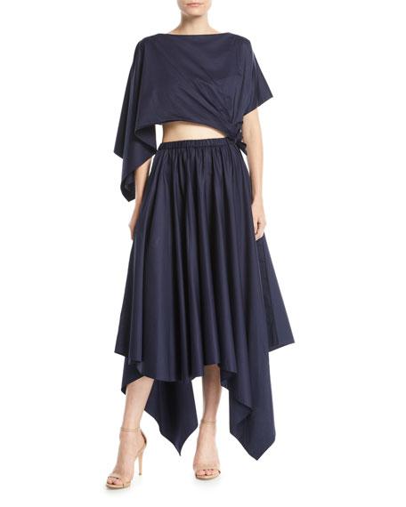 Crewneck Detachable Triangle  Dress