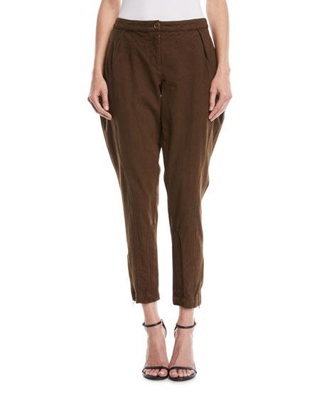 Washed Twill Slim-Fit Tapered-Leg Jodphur Pants