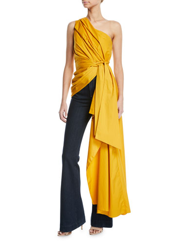 Ancient Sun One-Shoulder Drape Top