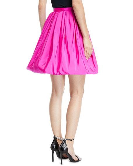 High-Waist Silk Faille Bubble Skirt