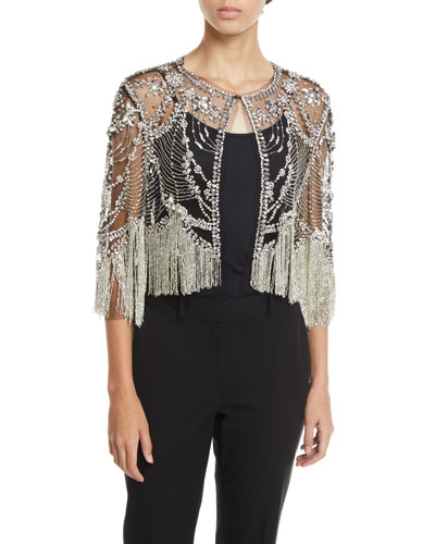 FRINGE SEE THROUGH JACKET