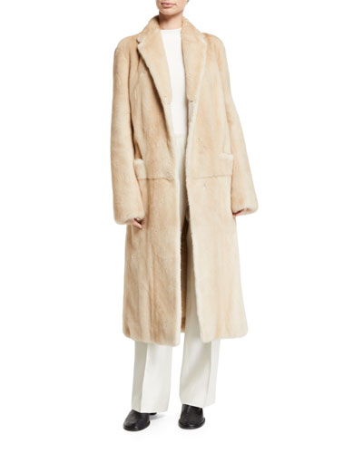 Muto Mink Fur Trench Coat