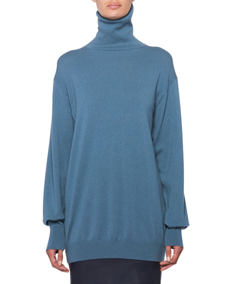 Image 1 of 1: Janillen Cashmere Turtleneck Oversized Sweater